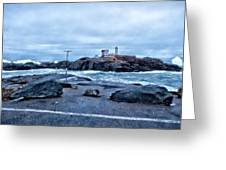 Nubble Light Lighthouse Greeting Card