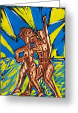 2 Nude Dancers Greeting Card
