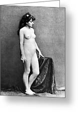 Nude Posing, C1885 Greeting Card