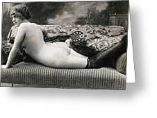 Nude Posing, C1900 Greeting Card