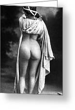 Nude Posing: Rear View Greeting Card