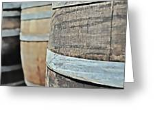 Oak Wine Barrel Greeting Card