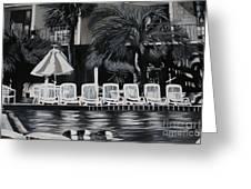 Ocean Palms  Greeting Card