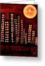 Wild L.a Moon Greeting Card