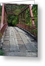 Old Alton Bridge  Greeting Card