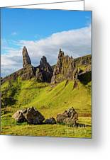 Old Man Of Storr, Isle Of Skye, Scotland Greeting Card