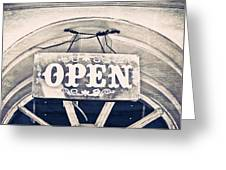 Open Sign Greeting Card