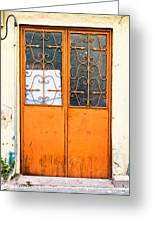 Orange Door Greeting Card