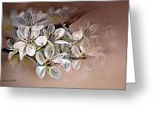Oriental Pear Blossom Greeting Card