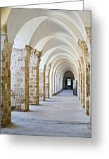 Ottoman-style Arched Corridor Greeting Card by Noam Armonn