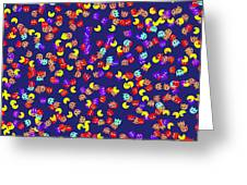 Pacman Seamless Generated Pattern Greeting Card