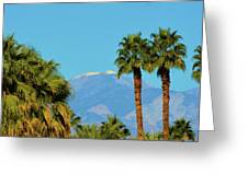 Palm Springs Mountains Greeting Card