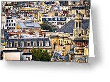 Paris Rooftops Greeting Card