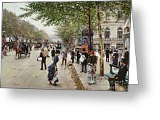 Parisian Street Scene Greeting Card