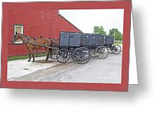 Amish Parking Lot Greeting Card