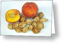 Peaches And Pits Greeting Card