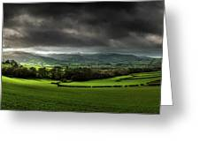 Pen Y Fan And Brecon Beacons Panorama Greeting Card