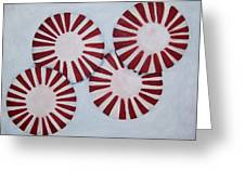 Peppermint Twist Greeting Card by Penny Everhart