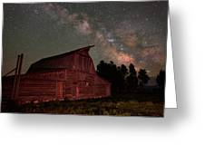 2 Percent Milk At The Moulton Barn Greeting Card