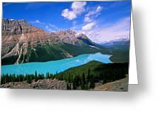Peyto Lake, Banff National Park Greeting Card