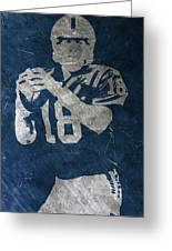 Peyton Manning Colts Greeting Card
