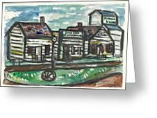 Pioneer Village Greeting Card