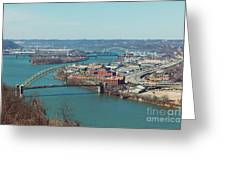 Pittsburg Skyline Greeting Card