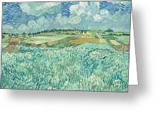 Plain At Auvers Greeting Card