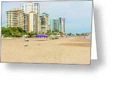 Playa De Chipipe In Salinas, Ecuador Greeting Card