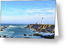 Point Arena Lighthouse Greeting Card by Jim Thompson