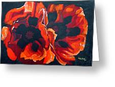 2 Poppies Greeting Card