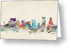 Portland Oregon Skyline Greeting Card