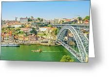 Porto Ribeira Skyline Greeting Card