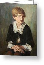 Portrait Of A Seated Child Greeting Card