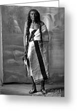Portrait Of Cree Indian Warrior Greeting Card