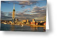 Portsmouth Harbour England  Greeting Card