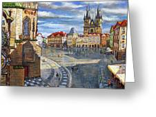 Prague Old Town Squere Greeting Card
