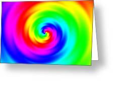 Psycho Hypno Floral Pattern Greeting Card
