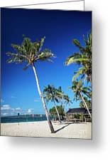 Puka Beach In Tropical Paradise Boracay Philippines Greeting Card