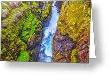 Pyrenees Waterfall Greeting Card