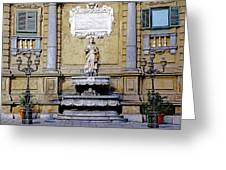 Quattro Canti In Palermo Sicily Greeting Card
