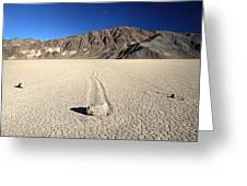 Racetrack In Death Valley National Park Greeting Card