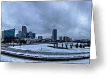 Rare Winter Weather In Charlotte North Carolina Greeting Card