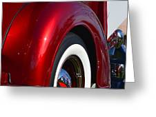 Red Chevy Pickup Fender Greeting Card