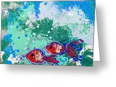 2 Red Fish Greeting Card