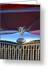 Red Ford Hotrod Greeting Card