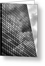 Reflective Glass And Metal Building Greeting Card