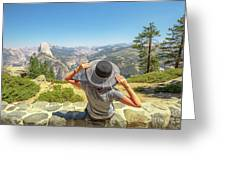 Relaxing At Glacier Point Greeting Card
