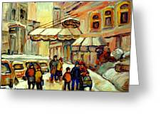 Ritz Carlton Montreal Streetscene Greeting Card