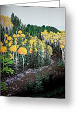 River Through Golden Forest Greeting Card